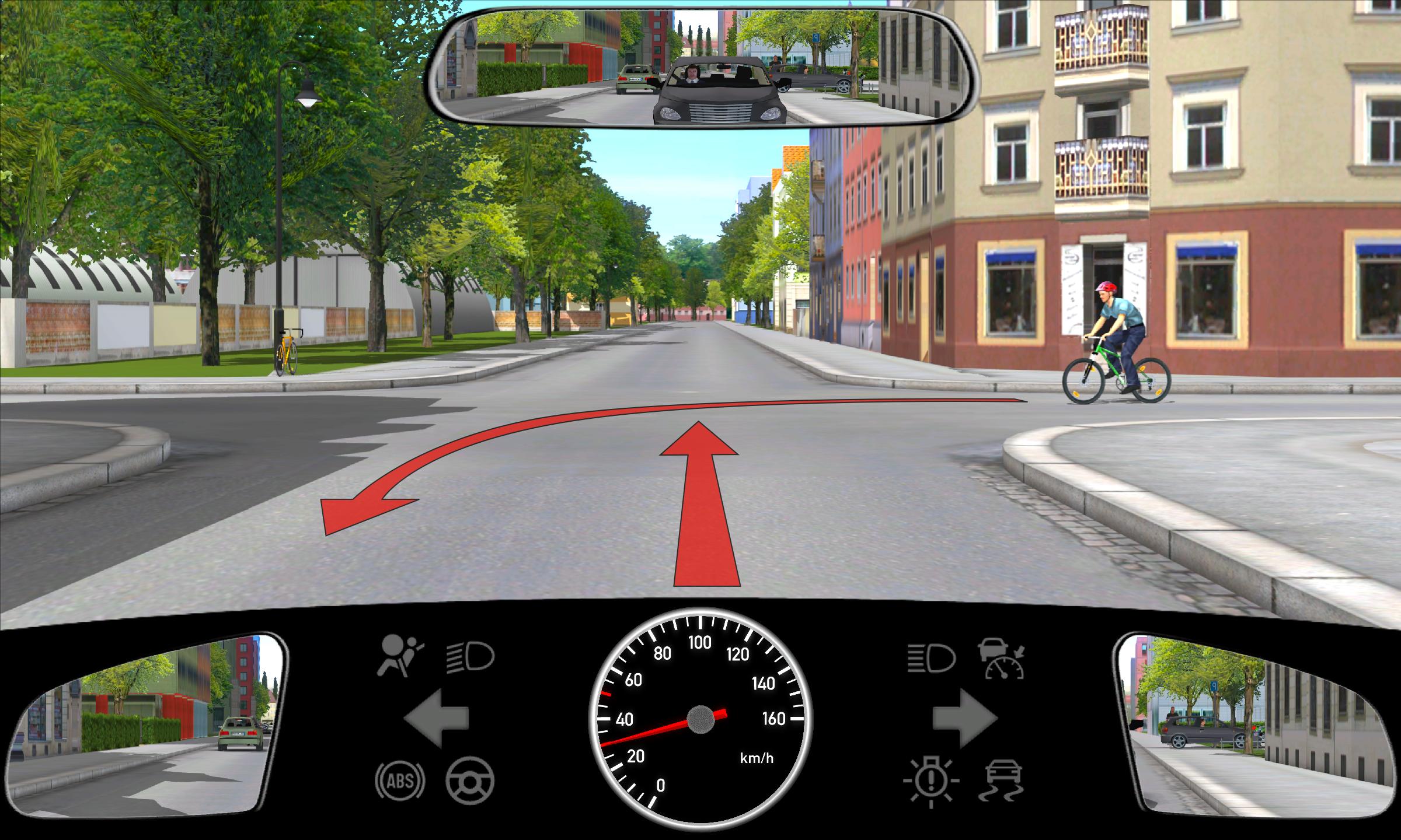 Wie verhalten sie sich jetzt richtig radfahrer